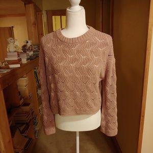 moon&madison.  Crop Sweater.  Dusty Rose.